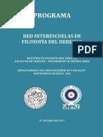 PROGRAMA - RED INTERESCUELAS DE FILOSOFÍA DEL DERECHO