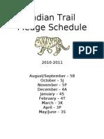 Indian Trail Pledge Schedule