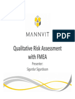 Qualitative Risk Assessment With FMEA (Presentation)