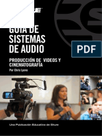 Audio Systems Guide for Video and Film Production Spanish