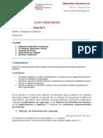 Tutorial 4-3 Interpolacion Polinomial