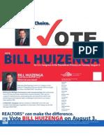 Bill Huizenga - REALTORS® Choice for U.S. Congress