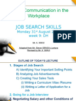 Job Search Skills Wk 9 2015