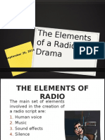 The Elements of a Radio Drama