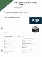 Custodial-B&G Request Form