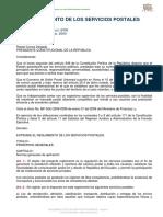 Reglamento Servicios Postales
