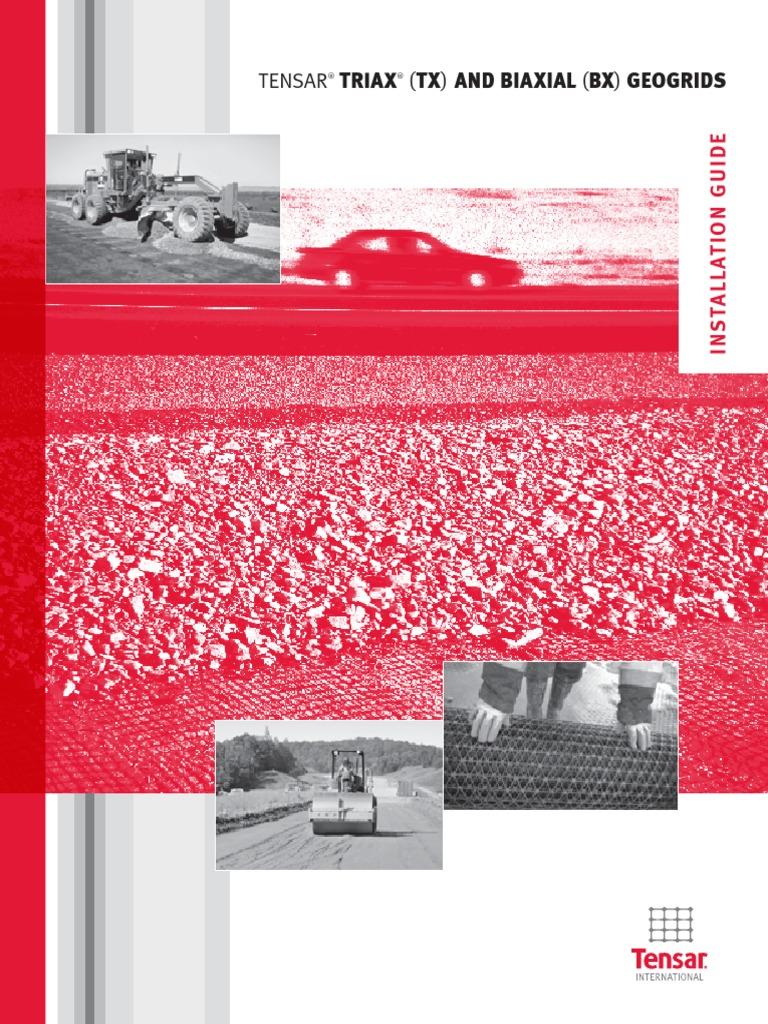 Tensar triax (tx) geogrid installation guide pdf.