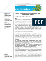 Sensory evaluation of low fat cereal and fruit based fermented milk beverage