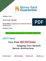 New Examzoon Cisco-300-320 Dumps- Designing Cisco Network Service Architectures