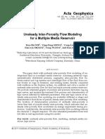 [Acta Geophysica] Unsteady Inter-porosity Flow Modeling for a Multiple Media Reservoir