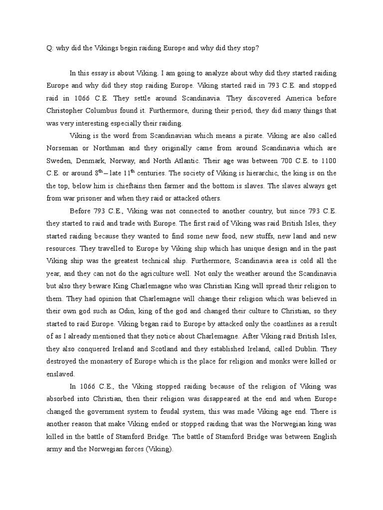essay vikings and europe norsemen vikings