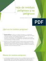 Manejo de Residuos Peligrosos y No Peligrosos GENESIS FRANCO