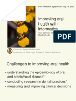 Improving Oral Health With Informatics_SDM Research Symposium_0510