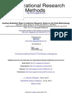 Goia Seeking Qualitative Rigor in Inductive Research