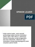 Kuliah 14. Opinion Leader