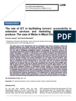 The role of ICT in facilitating farmers' accessibility to extension services and marketing of agricultural produce