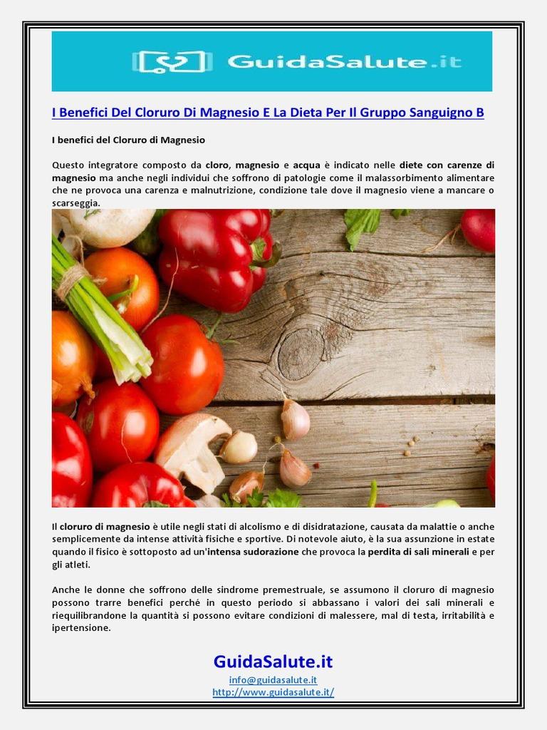 magnesio supremo e dieta