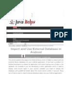 Import Database Tutorial