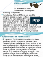 Physics Notes - Applications of Polarization