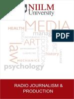 Radio Journalism & Production