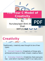 The Four C Model of Creativity
