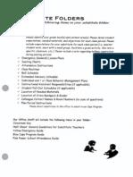 Sub Folder Checklist
