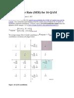 Symbol Error Rate 16QAM