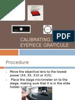 Calibrating an Eyepiece Graticule