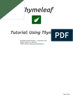 Using Thyme Leaf | Html | Html Element