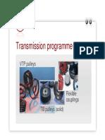 Soğutmalı Kasnak Transmission_programme