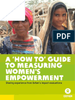 A 'How To' Guide To Measuring Women's Empowerment