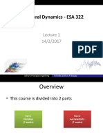 Structural Dynamics - ESA 322 Lecture 1