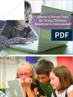 Effects of Screen Time for the Young