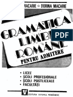 Gramatica Limbii Romane pentru admitere, Macarie, 1993