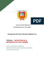 Resistencia a Antibióticos en España -Estructurado