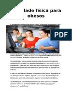 Atividade Fisica Para Obesos Trabalho de Educaçao Fisica