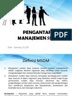01. Pengantar MSDM