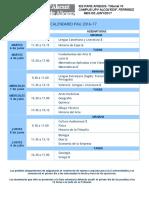 Horario PAU desglosado. Sitio Examen 2016-17
