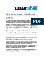 What Muslim Invaders Really Did to India