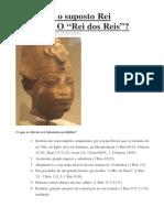 Rei Salomão era Amenhotep III