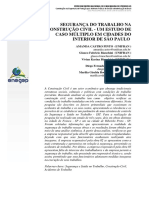 Segurança Do Trabalho Na Construção Civil - Um Estudo de Caso Múltiplo Em Cidades Do Interior de São Paulo