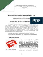 Mixul de Marketing Şi Importanţa Lui