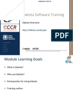 DakotaTraining1 Overview