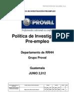Politica Investigacion Pre Empleo