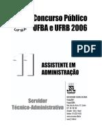 Prova Assist Adm 2006 ufba