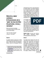 Memoria y Saber Cotidiano/ YANKO GONZALEZ Y MAURO GONZALEZ