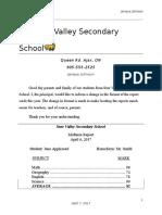 sure valley secondary school evaluation