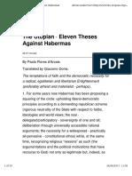 Flores d'Arcais_2014_Eleven Theses Against Habermas