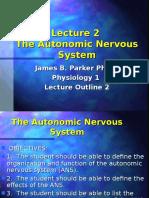 Lec. 2 - Autonomic Nervous System