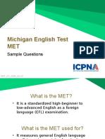 MET Sample Questions